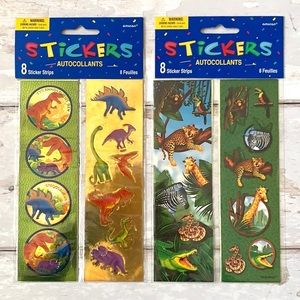 Dinosaur & Jungle Animals Sticker Set 2 Pack
